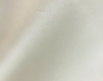 Ivory Lamour Dull Bridal Satin Fabric by the Yard