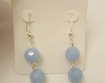 periwinkle double stacked earring