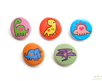 Dinosaur Love - Dino Button Set