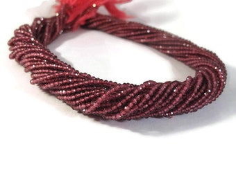 Rhodolite Garnet Beads, Small Faceted Rounds, 2.2mm - 2.5mm, 13 Inch Strand, Beautiful Gemstones for Making Jewelry (R-Rho2)