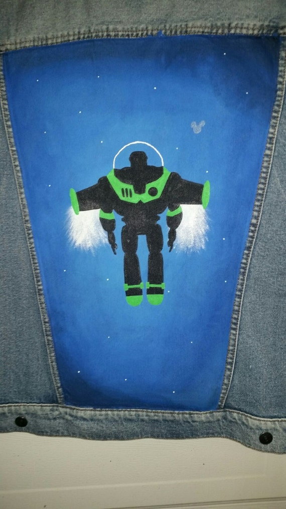 Too Infinity And Beyond   Buzz Lightyear Jean Jacket by Etsy