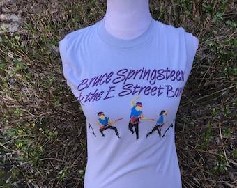 Bruce Springsteen T-shirt // Small // Medium // Sleeveless // World Tour // 84-85 // E street Band // Distressed // Tank // Top