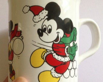 vintage retro Disney Mickey and Minnie Mouse mug collectible