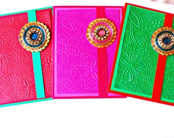 Note Cards, Embossed Cards, Notecards, Blank cards, Embossed notecards, Diwali cards, handmade cards, Indian holidays, Indian cards