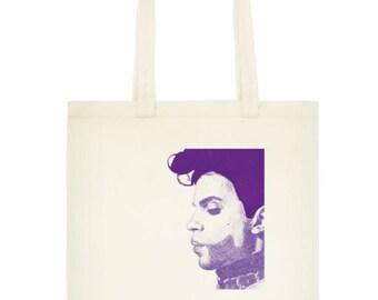 Prince Purple Rain Printed Cotton Tote Bag