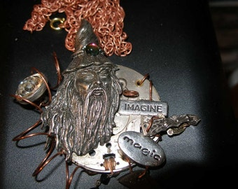 Steam Punk Wizard Pendant Necklace  trashionteam, FunkyAlternativeJewelry, paganteam, WWWG, OlympiaEtsy, Witches of etsy, EnglishGeeks