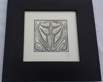 Two Lilies Pewter Picture