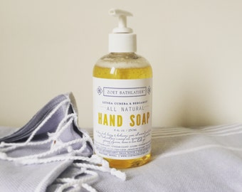 All Natural Hand Soap Litsea Cubeba & Bergamot