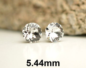 Crystal Studs, Clear Crystal Earrings, 5.44mm Earrings, Rhinestone Studs, Small Studs