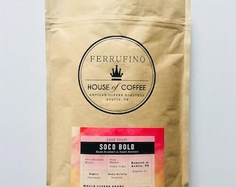 Whole Bean Roasted Coffee - Dark Roast - SoCo Bold