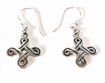Sterling Silver Knot Earrings/handmade/Solid Silver