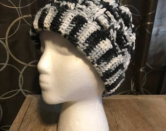 Messy Bun Cable Hat