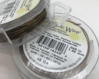Antique Brass Artistic Wire, Choose gauge, 18 gauge, 20 gauge, 22 gauge, Copper, jewelry wire, craft wire, jewelry wire, art wire