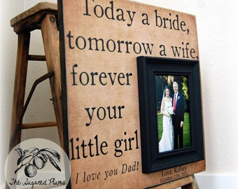 Father of the Bride Photo Frame, Today a Bride, 16x16 The Sugared Plums Frames
