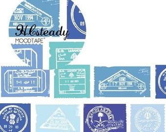 Blue postmark 2017 August tape 43mm x 10m Washi tape Masking Tape