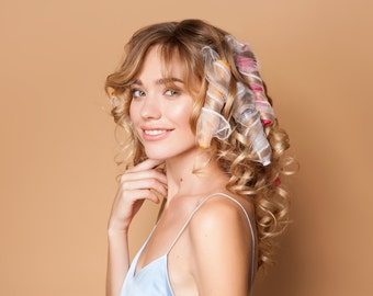 Curling Flutes (Innovative Hair Rollers for Spiral Curls), 21 Count