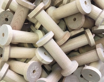 Large Wood Thread Spool With Wide Body, 10 pcs