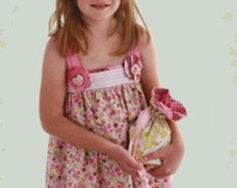 Baby Doll Dress and Purse Pattern Child's Sizes 6, 7,8