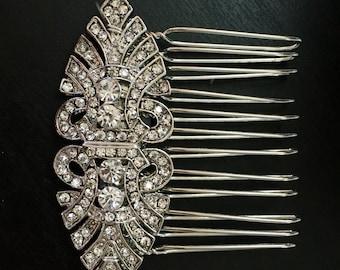 Art Deco hair comb , Bridal hair comb  - wedding hair comb , Vintage hair accessory - Gatsby