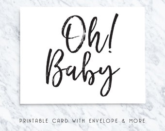 printable baby card, digital baby card, new baby card, download baby card, baby greeting card, baby note cards
