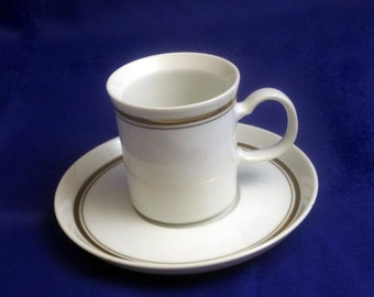 Vintage Milano Fine China by Seymour Mann Espresso Cup and Saucer, Discontinued 1934-1963