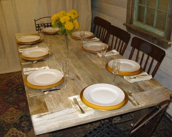 "Driftwood Table, Beach House Table (84""L x 40""W x 29""H)"