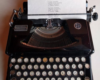 Custom hand-typed poetry and quotes