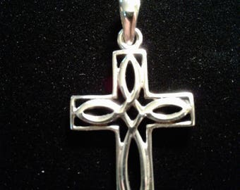 Celtic Cross Sterling Silver Charm (11)