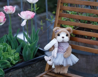 Artist collectible Teddy bear Maria (OOAK)
