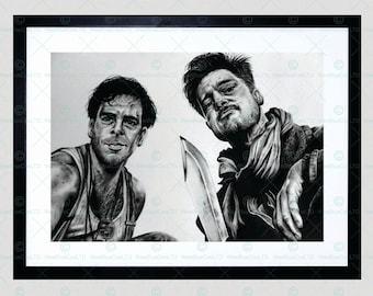 Inglorious Basterds Brad Pitt Framed Art Print By W.Maguire F12X10600
