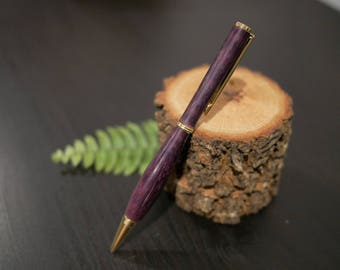 Hand-turned Purpleheart Wood Pen