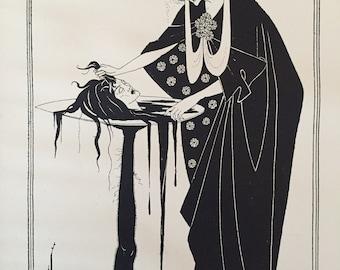 Salome by Aubrey Beardsley Antique Print