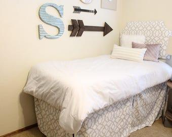 Dorm Bed Skirt Panels, 3 panels, 38x33 - Dorm Bedskirt, Twin XL Bedskirt, Dorm Bedding, Dorm Decor, Lofted Bedskirt