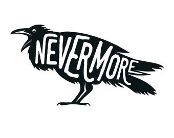 Nevermore vinyl decal sticker for Car/Truck Window computer edgar allan poe raven