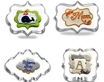 4pcs Blessing Wedding Frame Cookie Cutters 3D Biscuit Sugarcraft Kitchen Mould Baking Pastry Tools BG1082778