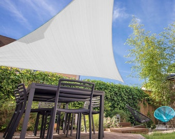 Triangle Sun Shade Sail 10 x 10 x 10 Ft UV Block Fabric