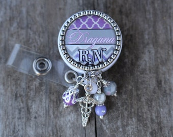 Badge, Nurse Badge Reel, Badge Reel, Nurse RN Badge Reel, Personalized Nurse Badge, Personalized RN Badge, Personalized Badge, Badge Reel,
