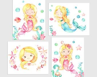 Mermaid Decor, Mermaid Gift, Mermaid Room Decor, Mermaids Girls Room, Mermaid Girls Decor, Girls Mermaid Decor, Mermaid Wall Decor