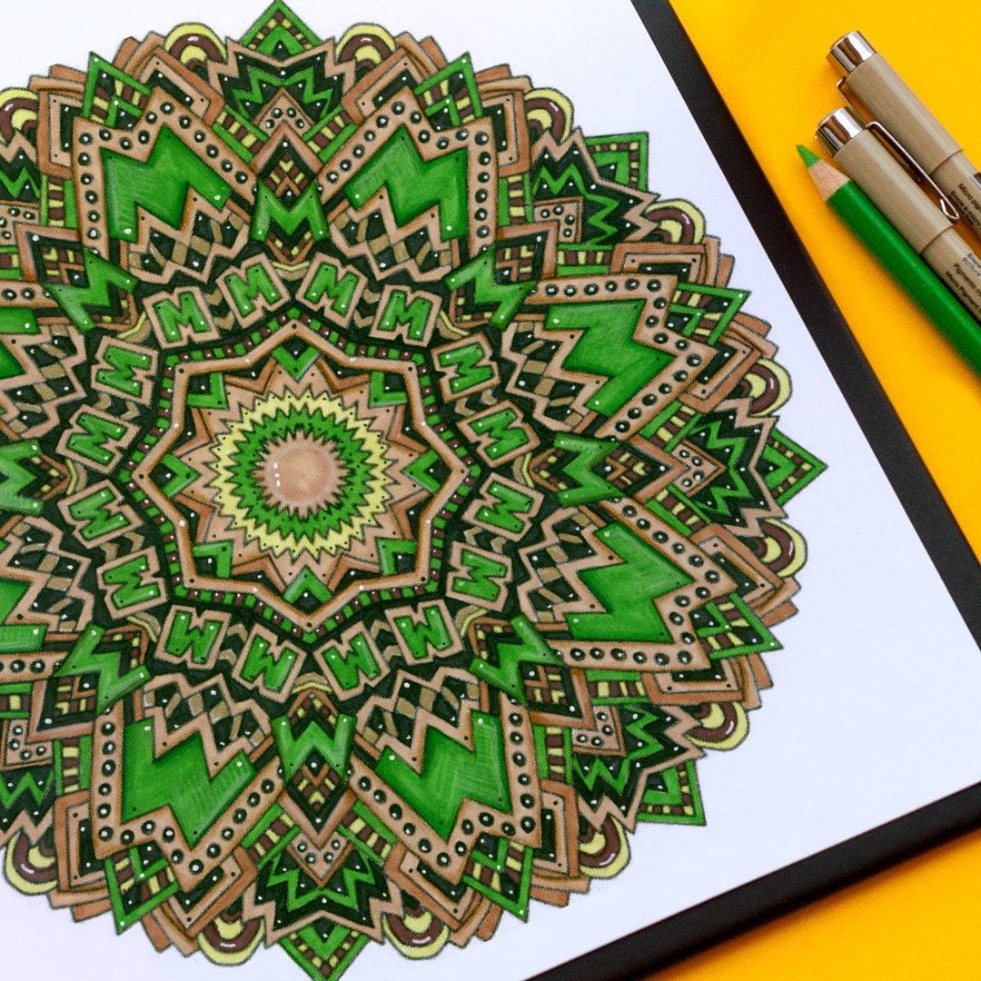 60 mandala coloring pages / mandala coloring book / printable