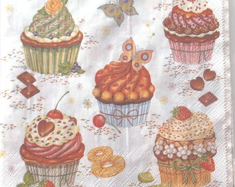 paper x 20 - CUPCAKES and cakes REF. 3578