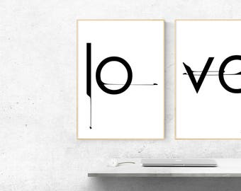 Love Printable Wall Art Printable Love Print Love Wall Art Love Poster Love Prints Digital download Gift idea Download Love Posters