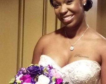 Bridal Forehead Band ~ Pearls ~ Bridal Headband ~ Rhinestones ~ Swarovski Crystal ~ Wedding Headband ~ Vintage Bridal ~ Gold ~ Rose Gold