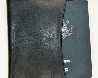 Handmade Passport Wallet Genuine Real Leather Travel Wallet by Ebb & Flow