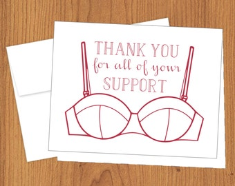 Thanks for Your Support - Funny Thank You Cards - A2