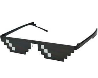 Glasses 8 Bit MLG Pixelated Sunglasses Men Women Brand Thug Life Party Eyeglasses Mosaic Vintage Eyewear