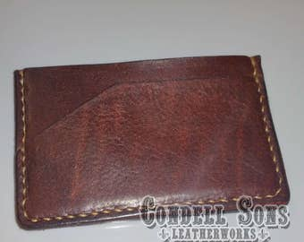 Three pocket card wallet