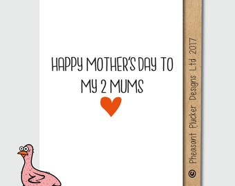 Two Mums - Cute LGBTQ Mother's Day Card
