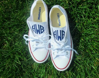 Women's Monogrammed Converse Shoes