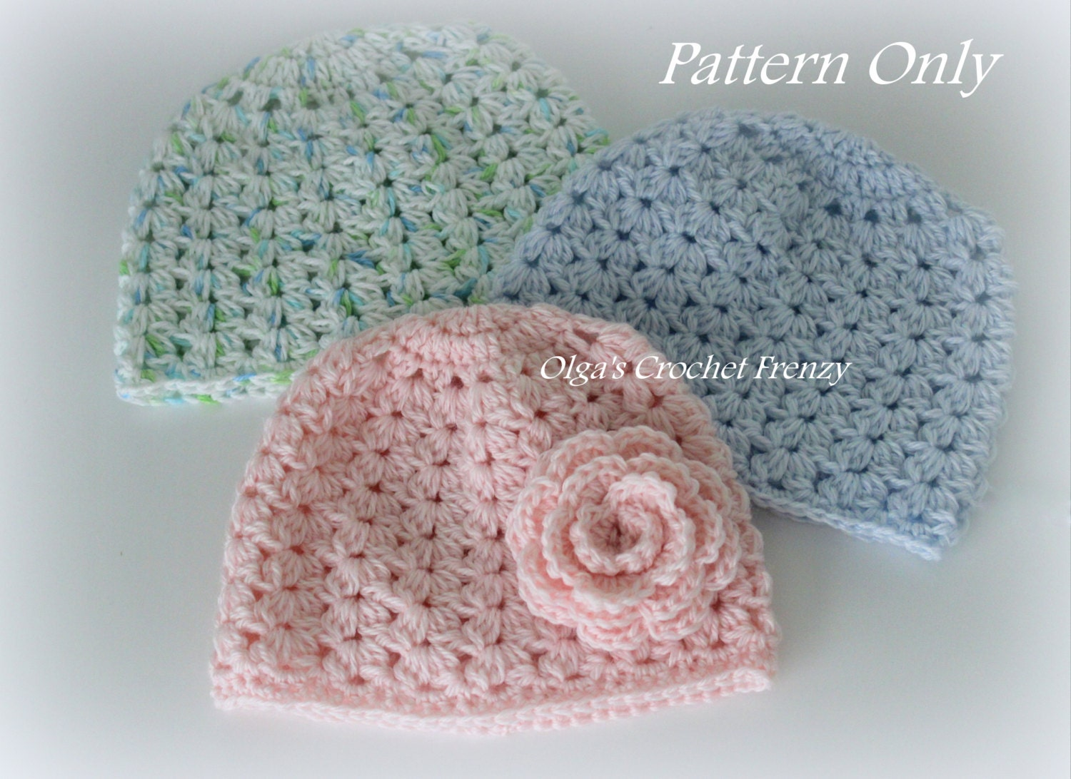 Crochet baby hat pattern size 3 6 months very detailed zoom dt1010fo