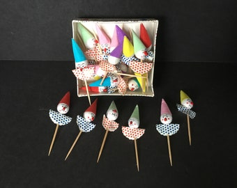 Vintage Clown Toothpicks by Sea Belle